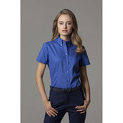 Corporate Oxford Blouse Short Sleeved Womens