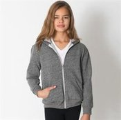 Kids/youth salt and pepper zip hoody (RSAMT197)